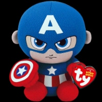 TY Beanie Babies Marvel Original Captain America - Red/Blue