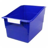 Tattle® Wide Shelf File, Blue - 1