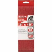 Diablo 3 In. x 18 In. 50 Grit General Purpose Sanding Belt (2-Pack)