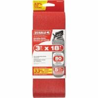 Diablo 3 In. x 18 In. 80 Grit General Purpose Sanding Belt (5-Pack)
