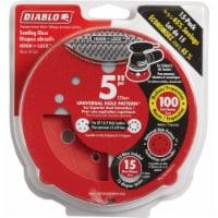 """Diablo 15pk 5""""100g Sanding Disc DCD050100H15G"""
