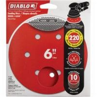 """Diablo 10pk 6""""220g Sanding Disc DCD060220H10G"""