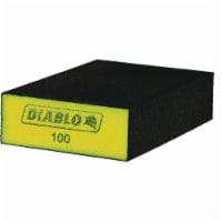 Diablo 2-1/2 In. x 4 In. x 1 In. 100 Grit (Fine) Flat Edge Sanding Sponge