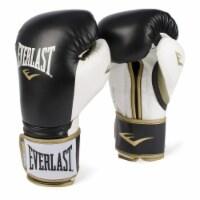 Everlast P00000725 14 Ounce Powerlock Hook & Loop Training Gloves, Black/White - 1 Unit