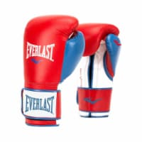 Everlast P00000730 16 Ounce Powerlock Hook & Loop Training Gloves, Red and Blue - 1 Unit