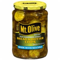 Mt. Olive Old-Fashioned Sweet Bread & Butter Pickle Chips with Sea Salt