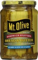 Mt. Olive Old-Fashioned Sweet Bread & Butter Sandwich Stuffers With Sea Salt
