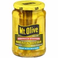 Mt. Olive Bread & Butter Sandwich Stuffers with Sea Salt