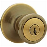 Steel Pro Antique Brass Entry Door Knob  5762AB-ET CP - 1