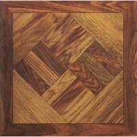 Home Impressions Wood Parquet 12 In. x 12 In. Vinyl Floor Tile (45 Sq. Ft./Box) - 1