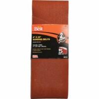 Do it Best 4 In. x 24 In. 80 Grit Dual Direction Sanding Belt (5-Pack) 368733