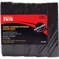 Do it Best Jumbo 3 In. x 5 In. x 1 In. Medium/Coarse Sanding Sponge (5-Pack)