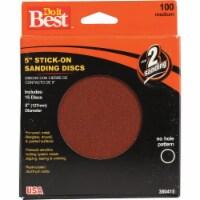 Do it Best 5 In. 100 Grit Stick-On Sanding Disc (15-Pack) 380415