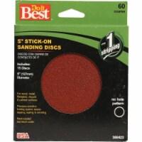 Do it Best 5 In. 60 Grit Stick-On Sanding Disc (15-Grit) 380423 - 1