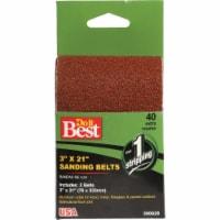 Do it Best 3 In. x 21 In. 50 Grit Heavy-Duty Sanding Belt (2-Pack) 380601
