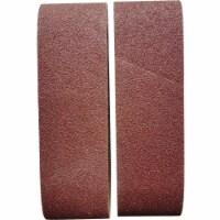 3 In. x 21 In. 80 Grit Heavy-Duty Sanding Belt (2-Pack) BS380598
