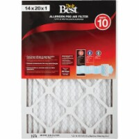 Do it Best 14 In. x 20 In. x 1 In. Allergen Pro MERV 10 Furnace Filter Pack of 6