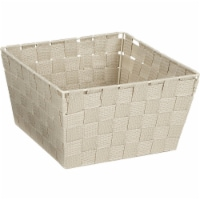 Home Impressions 9.75 In. x 5.5 In. H. Woven Storage Basket, Beige 799494-BE