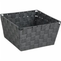 Home Impressions 9.75 In. x 5.5 In. H. Woven Storage Basket, Gray 799494-GR