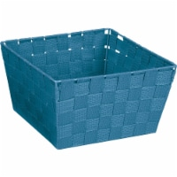 Home Impressions 9.75 In. x 5.5 In. H. Woven Storage Basket, Blue 799494-BL - 1