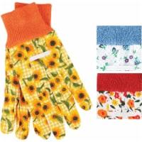 Best Garden Women's 1 Size Fits All Canvas Garden Glove with Knit Cuff 726052 - 1 Size Fits All