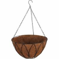 Best Garden 14 In. Steel Rod Black Powder Coat Hanging Plant Basket HB1326-14 - 14 In.