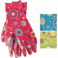 Best Garden Accent Women's 1 Size Fits All Nitrile Coated Garden Glove FL6802 - 1 Size Fits All