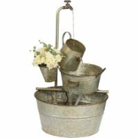 Best Garden 22 In. W. x 33 In. H. x 22 In. L. Galvanized Metal Bucket Fountain - 1