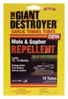 The Giant Destroyer® Mole & Gopher Repellent Garlic Tunnel Tubes - 10 ct