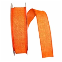 Reliant Ribbon 92573W-762-09K Everyday Linen Value Wired Edge Ribbon - Tangerine - 1.5 in. x