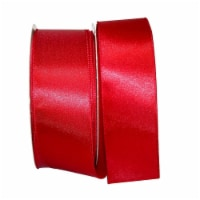 Reliant Ribbon 92575W-908-40K Satin Value Wired Edge Ribbon - Scarlet - 2.5 in. x 50 yards