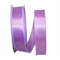 Reliant Ribbon 92575W-120-09K Satin Value Wired Edge Ribbon - Lavender - 1.5 in. x 50 yards
