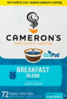 Cameron's Breakfast Blend Single Serve Coffee Pods 72 Count