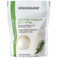 Smith & Vandiver Aromatherapaes Nutmeg & Fir Fizzical Therapy Bath Bombs