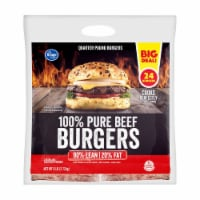 Kroger® 100% Pure Beef Quarter Pound Burgers 24 Count