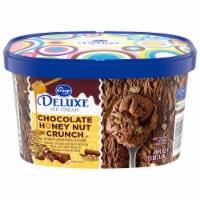 Kroger® Deluxe Chocolate Honey Nut Crunch Ice Cream - 48 fl oz
