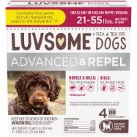 Luvsome Advanced + Repel Flea & Tick Drops for Dogs - 4 ct