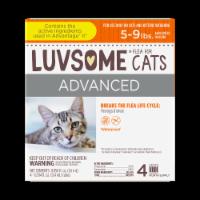 Luvsome Advanced Flea & Tick Drops for Cats - 4 ct