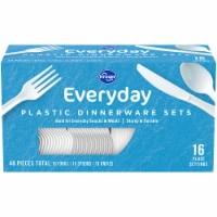 Kroger® Everyday White Plastic Dinnerware Sets - 48 ct