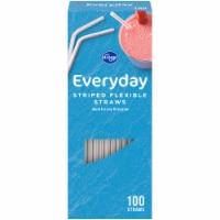 Kroger® Everyday Striped Flexible Straws - 100 ct