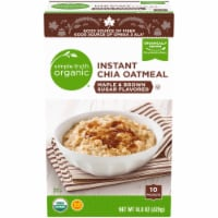 Simple Truth Organic™ Instant Maple & Brown Sugar Flavored Chia Oatmeal 10 Count