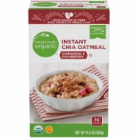 Simple Truth Organic™ Instant Cinnamon & Cranberry Chia Oatmeal Packets 10 Count