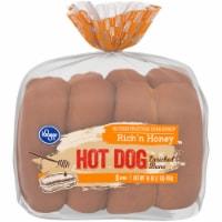 Kroger® Rich 'N Honey Hot Dog Buns 8 Count