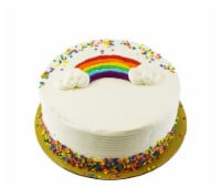 Bakery Fresh Goodness Double Layer Rainbow Yellow Cake