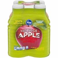 Kroger® No Sugar Added 100% Apple Juice - Pack of 4 (10 Fl Oz)