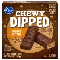 Kroger® Chewy Dipped Peanut Butter Granola Bars 6 ct