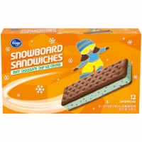 Kroger®  Mint Chocolate Chip Ice Cream Sammies 12 ct
