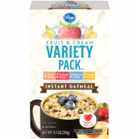 Kroger Fruit & Cream Instant Oatmeal Packets Variety Pack
