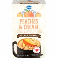 Kroger® Peaches & Cream Flavored Instant Oatmeal Packets