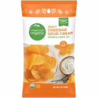Simple Truth Organic™ Wavy Cheddar Sour Cream Potato Chips